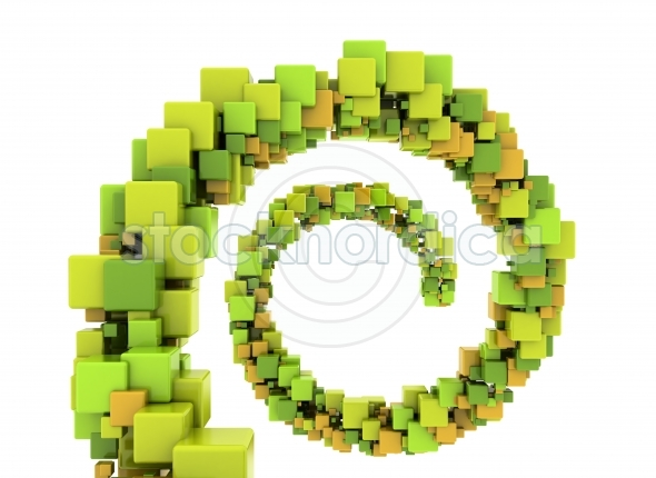 Abstract Colorful 3D Cubes Background