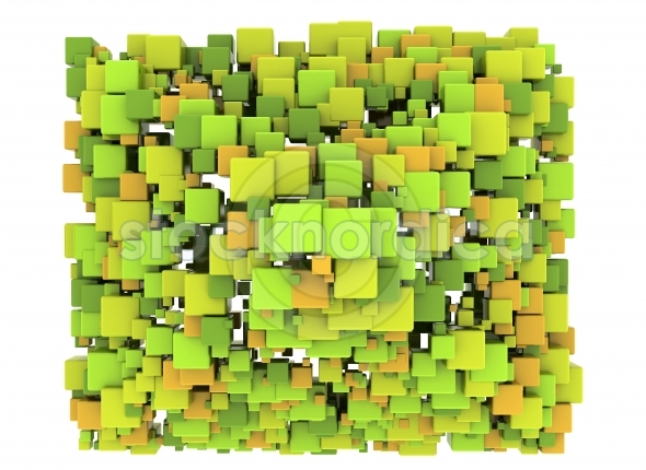 Abstract Cubes Background 3d design element