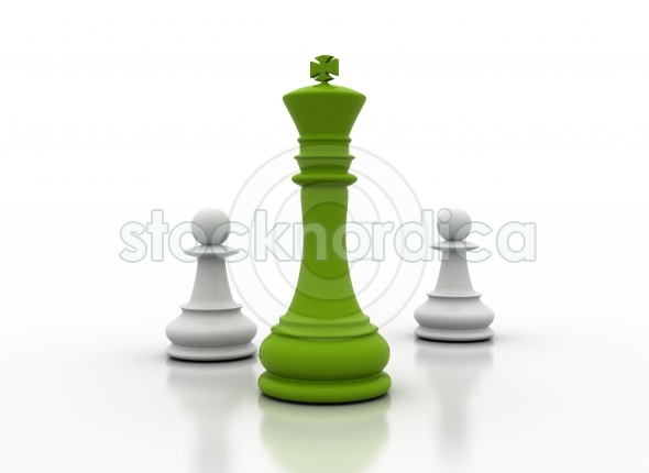 Green chess king leadership