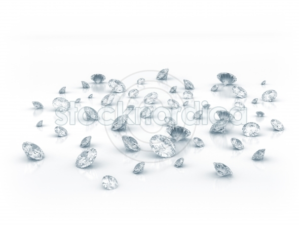 Group of clear diamonds