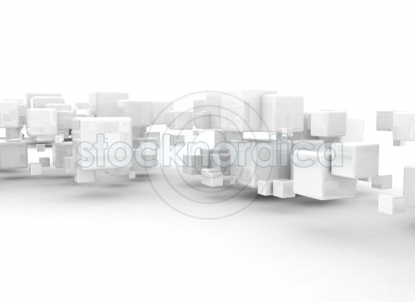 Abstract 3d building cubes background