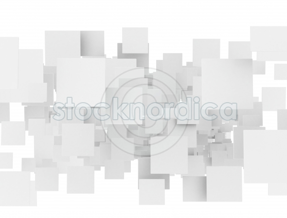 Abstract blank 3d squares
