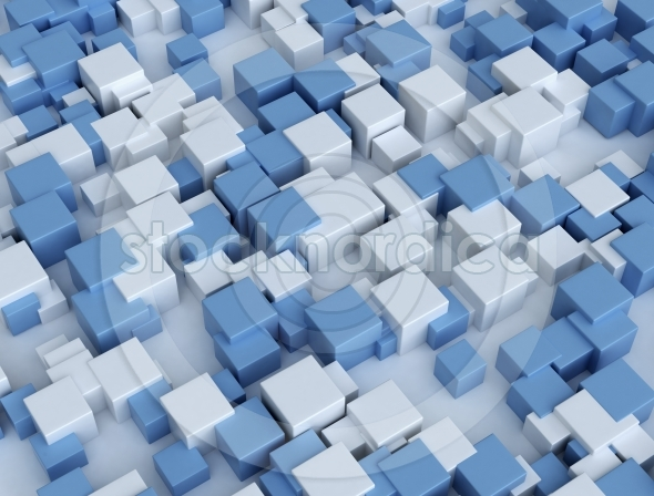 3D cubes building background